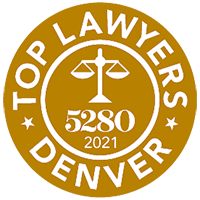 5280 Magazine's 2021 Top Lawyers in Denver badge